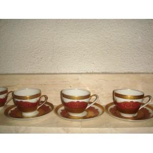 Kavová súprava pozlatená