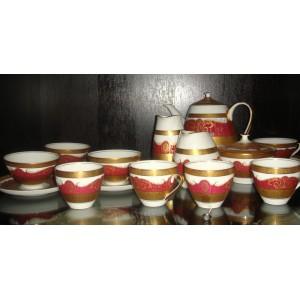Kavová a čajová súprava pozlatená